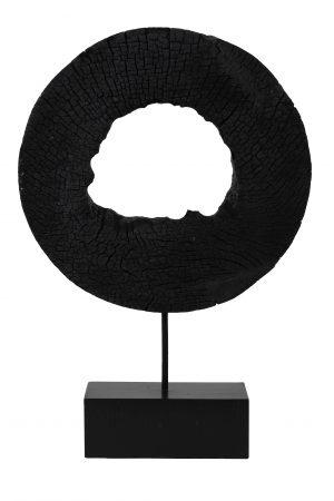 Ornament op voet 35x10x53 cm XERRA hout zwart 7414212 Quality2life.nl