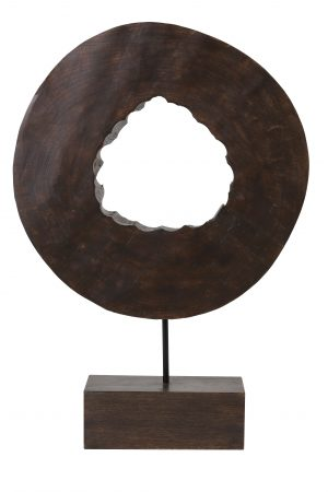 Ornament op voet 35x10x53 cm XERRA hout bruin 7414264 Quality2life.nl