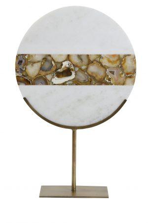 Ornament op voet 35x12x50 cm GOUYA marmer+antiek brons 7417318 Quality2life.nl