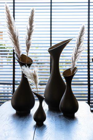 Vaas deco TILIPI zwart+brons Quality2life.nl