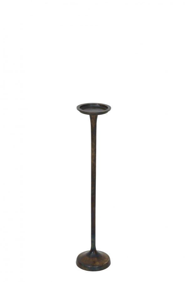Kandelaar 14x65cm MELAK vurig brons 6029950 Quality2life.nl