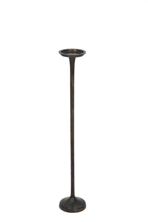 Kandelaar 14x80cm MELAK vurig brons 6030050 Quality2life.nl