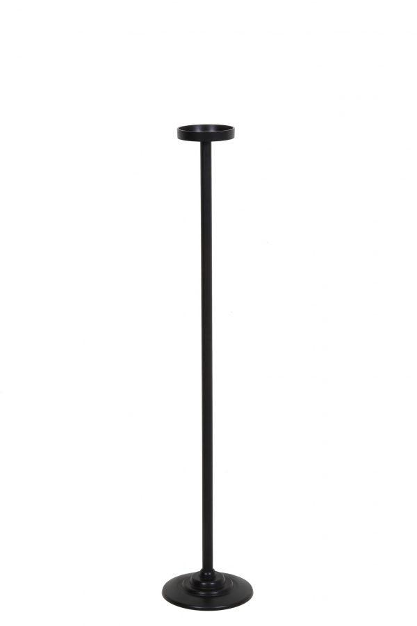 Kandelaar 20x100cm ZIYA mat zwart 6031258 Quality2life.nl