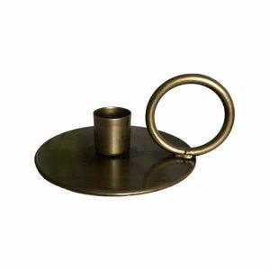 Kandelaar 12x5cm OEKAZA antiek brons 6033018 Quality2life.nl