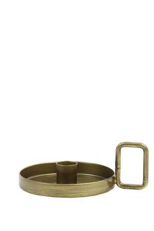 Kandelaar 15x5,5cm OEKATA antiek brons 6033118 Quality2life.nl