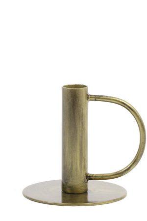 Kandelaar 12x11cm OEKARA antiek brons 6033218 Quality2life.nl