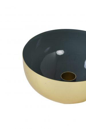 Kandelaar 13x6cm MALILAN goud+blauw grijs 6035080 Quality2life.nl