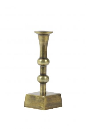 Kandelaar 10x10x20cm SANCHEZ antiek brons 6035818 Quality2life.nl