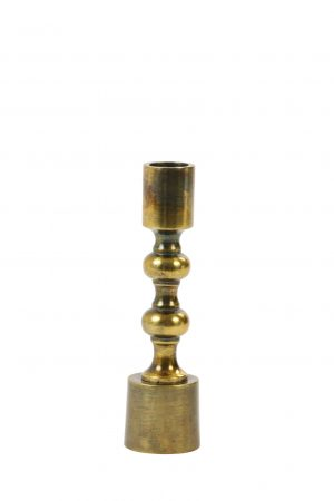 Kandelaar 4,5x16cm BABIMO antiek brons 6036718 Quality2life.nl
