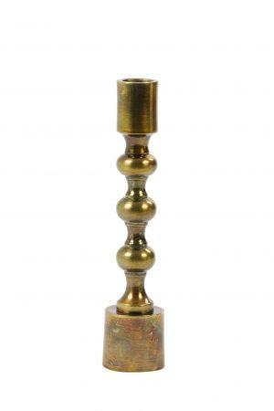 Kandelaar 4,5x24cm BABIMO antiek brons 6036918 Quality2life.nl