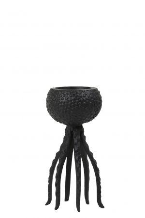 Kandelaar 13x25cm OCTOPUS mat zwart 6037312 Quality2life.nl