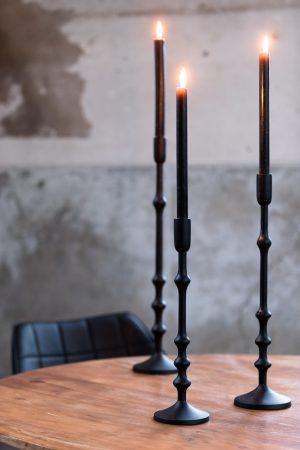 Kandelaar 12x50cm SEMUT mat zwart 6038012 Quality2life.nl