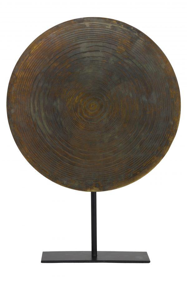 Ornament op voet Ø40x56 cm GARAS vurig brons-mat zwart 6981050 - Quality2life.nl