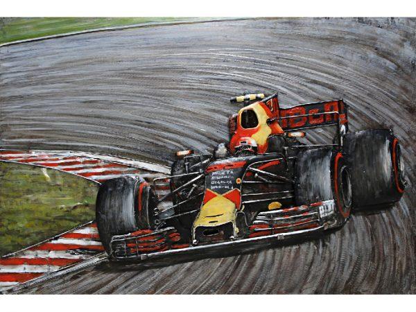 3D-schilderij Formule1 Rood-Geel MD001156 Quality2life.nl